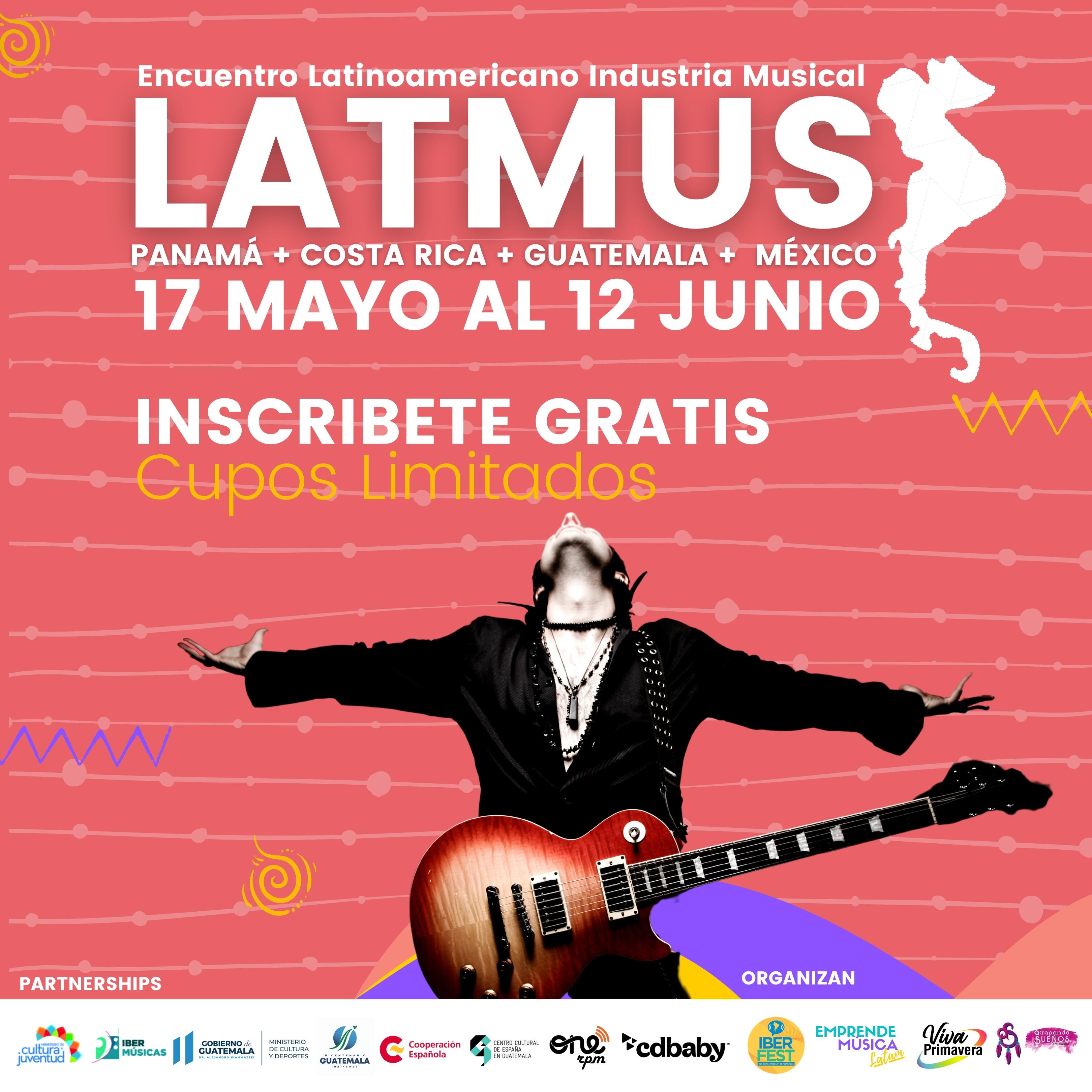 Tendrá lugar la tercera edición del Encuentro Latinoamericano Industria Musical 2021 con especial énfasis en Costa Rica, Guatemala, Panamá y México