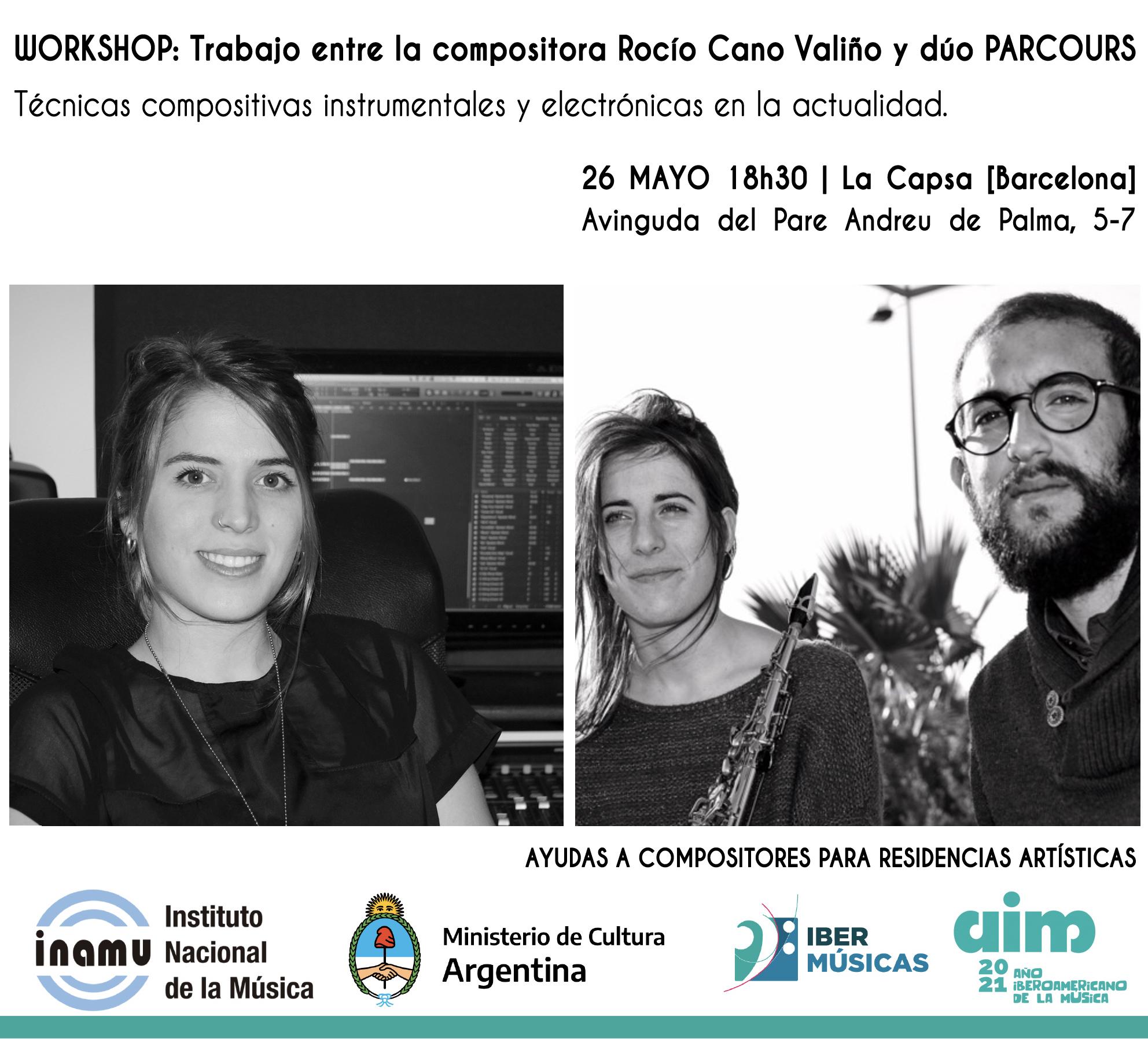Rocío Cano Valiño de Argentina inicia su residencia creativa junto al Dúo Parcours de España