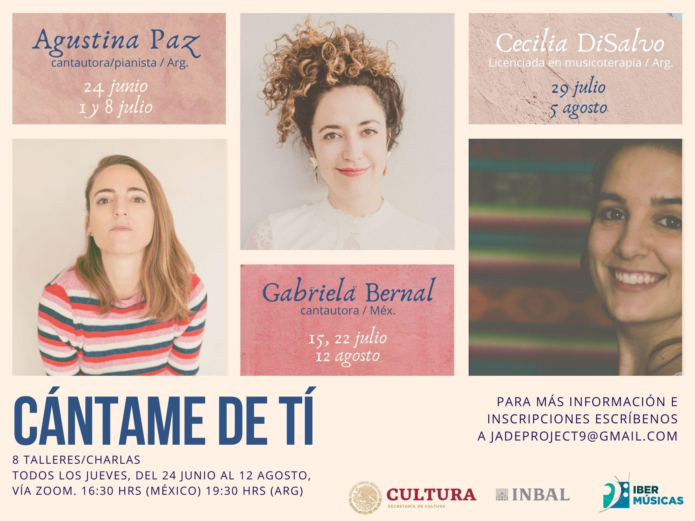 """Comienzan los encuentros virtuales """"Cántame de Ti – Mujeres creando música"""""""