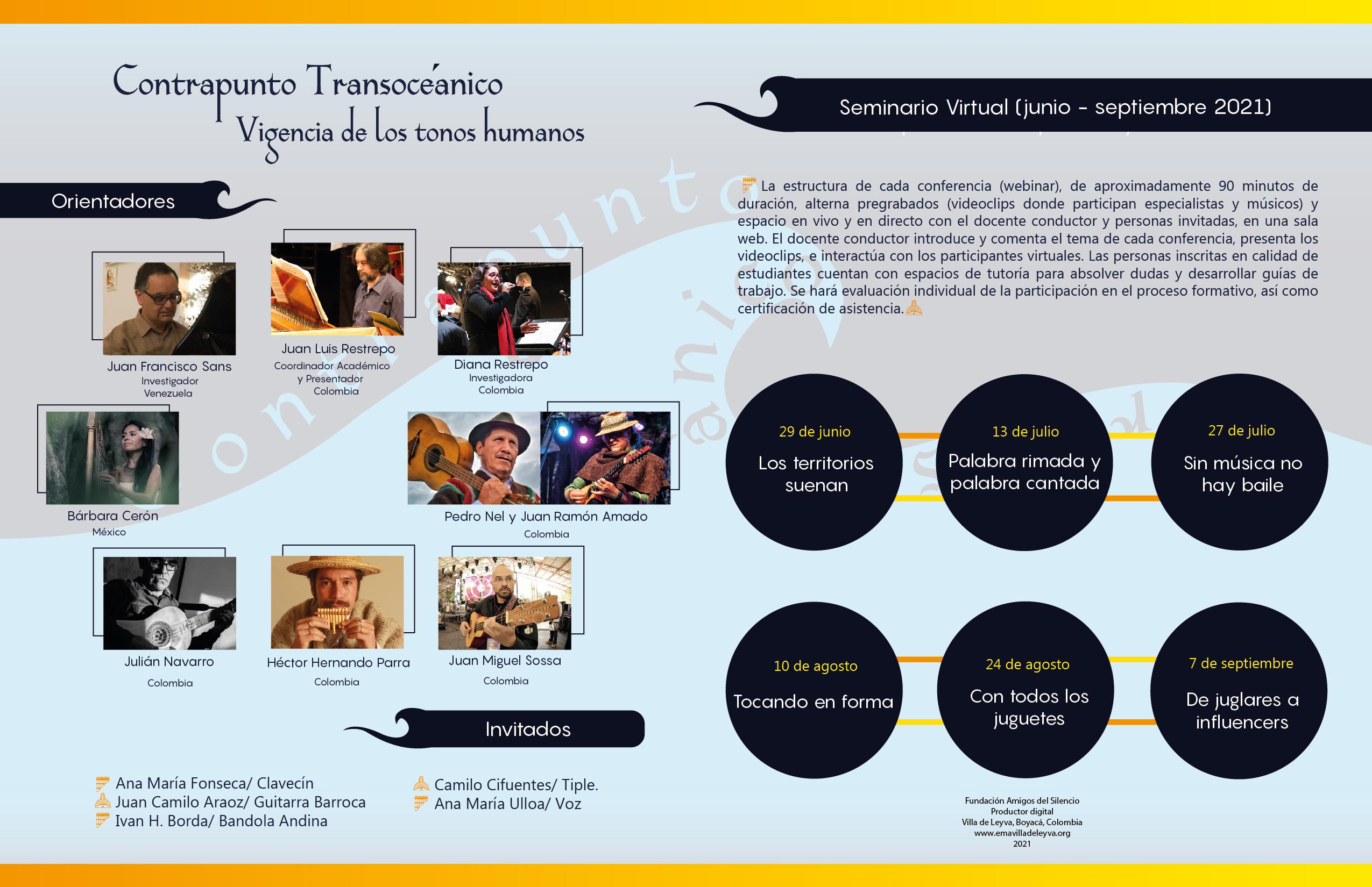 """La Fundación Amigos del Silencio dio inicio al ciclo de videoconferencias """"Contrapunto Transoceánico"""" en el marco del XIII Encuentro de Música Antigua en Villa de Leyva, Colombia"""