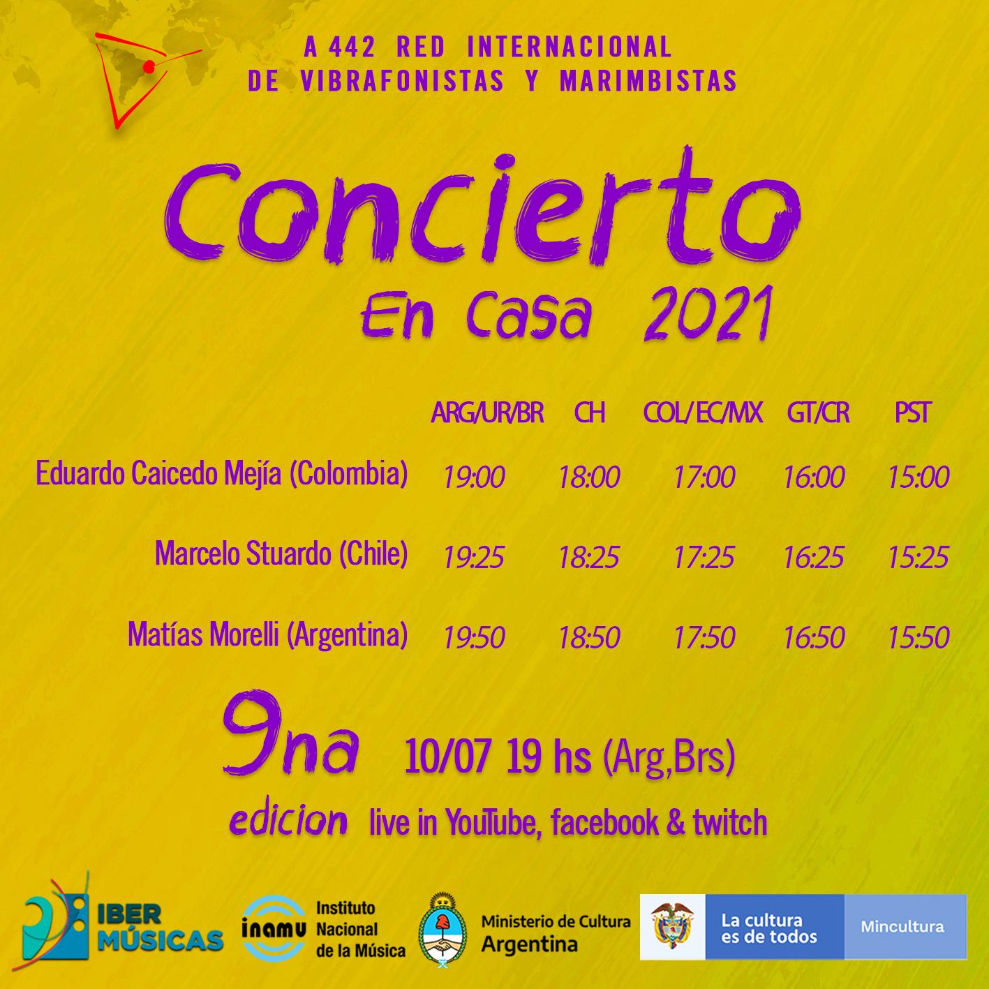 Llega un nuevo concierto de A442, Red Internacional de Marimbistas y Vibrafonistas