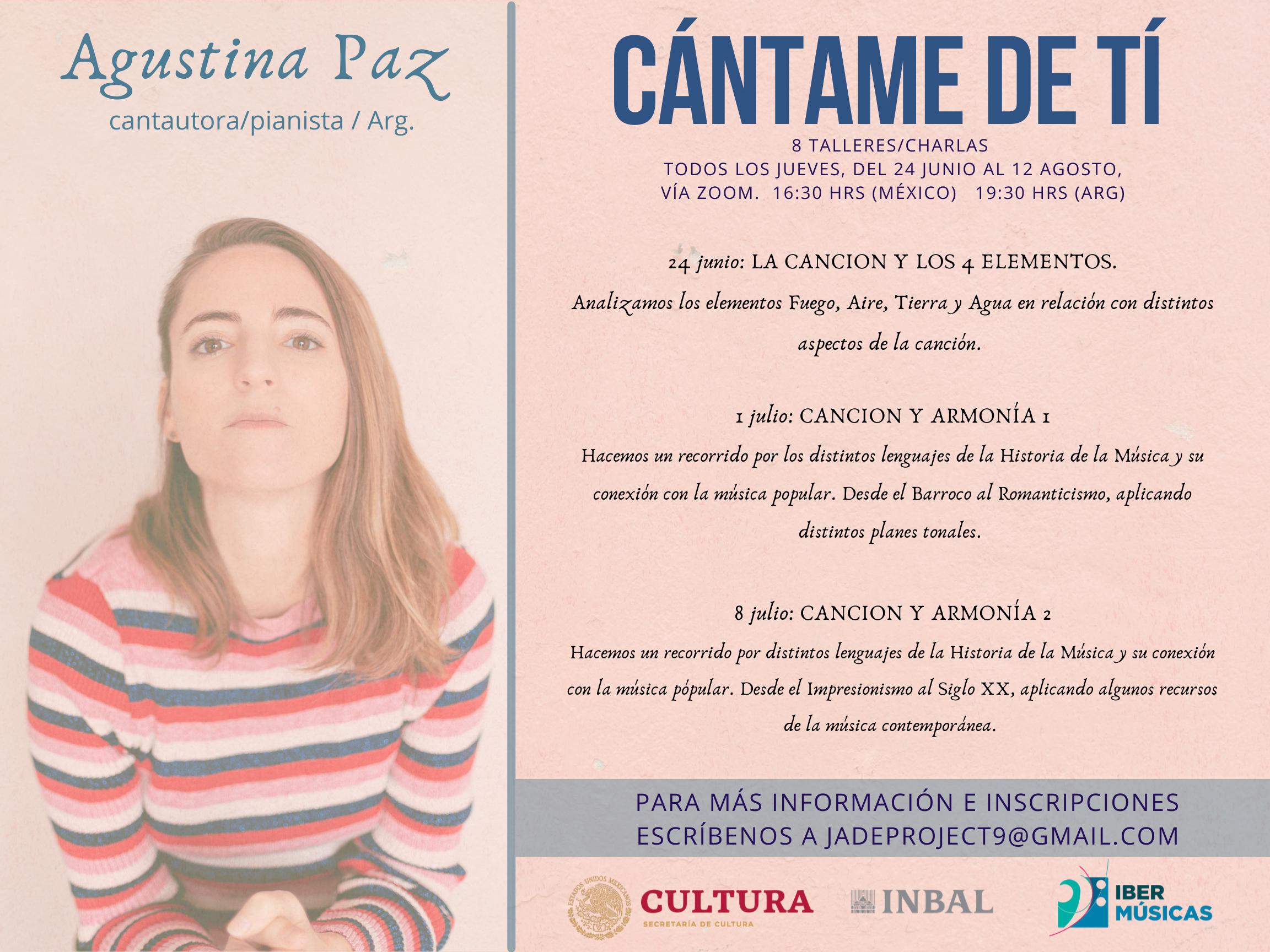 """Continúan los encuentros virtuales """"Cántame de Ti – Mujeres creando música"""""""