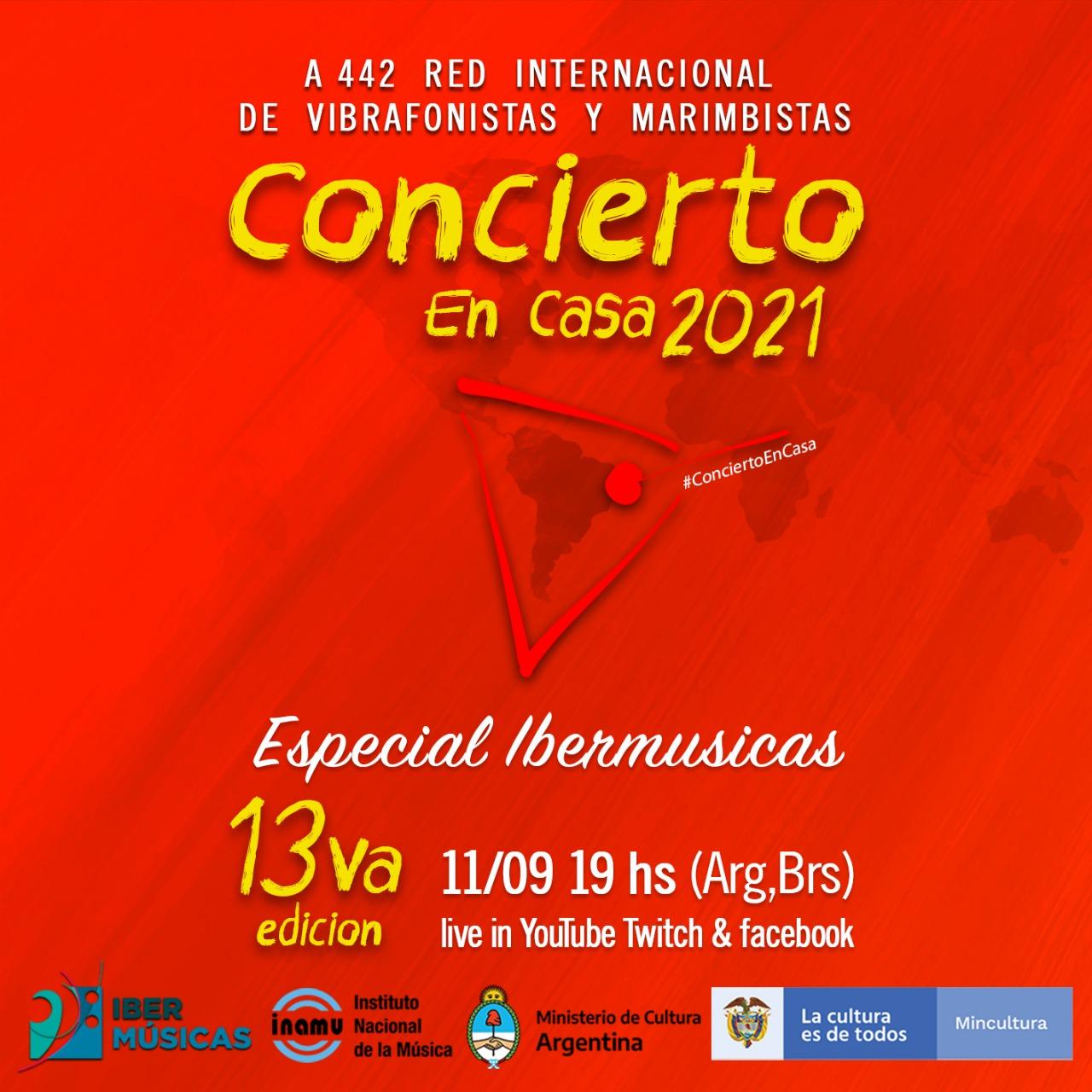 A442, Rede Internacional de Marimbistas e Vibrafonistas realizará durante o mês de setembro duas novas emissões de seus concertos