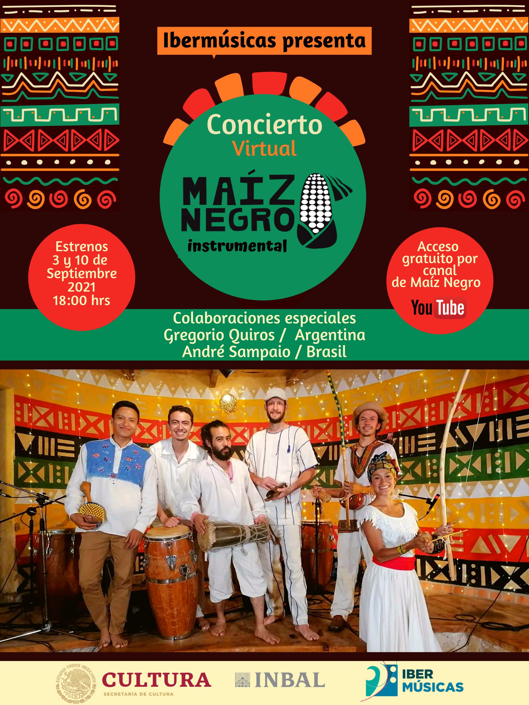 O Coletivo Maíz Negro do México apresenta seu Concerto Virtual com a participação de artistas da Argentina e do Brasil