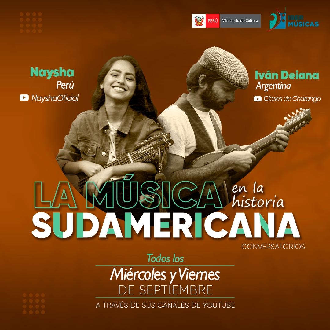 """Naysha do Peru e Ivan Deiana da Argentina iniciam seu ciclo """"A música na história sul-americana"""""""