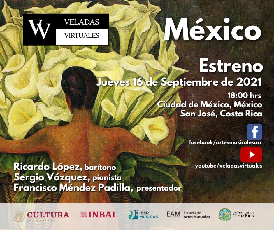 """Do México e da Costa Rica chega a última das três """"Veladas Virtuais"""", neste caso inteiramente dedicada à música vocal de autores mexicanos"""