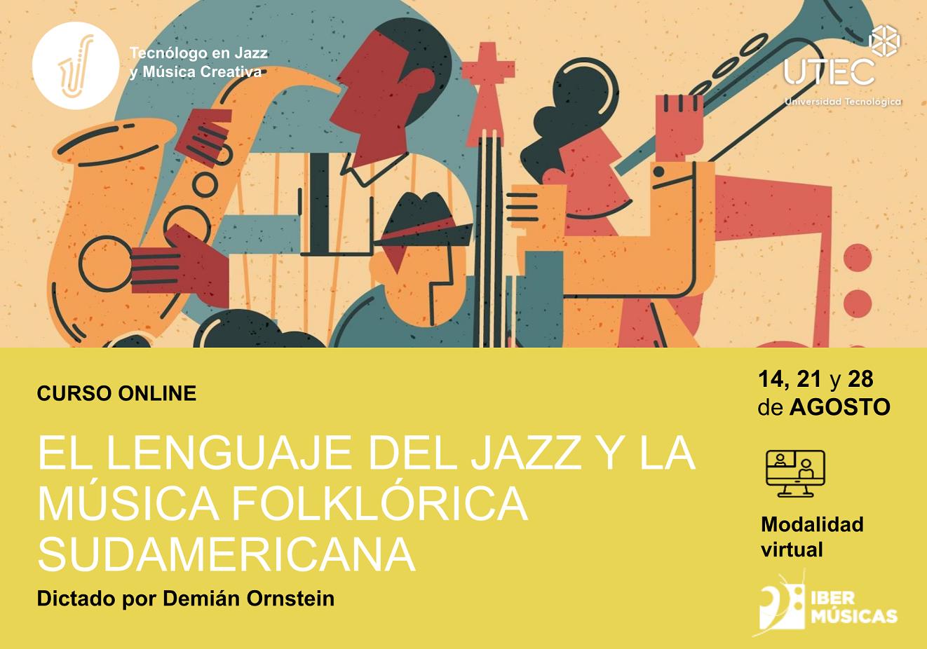 El guitarrista argentino Demian Ornstein brindará su taller «El lenguaje del jazz y la música folkórica sudamericana» desde la Universidad Tecnológica del Uruguay