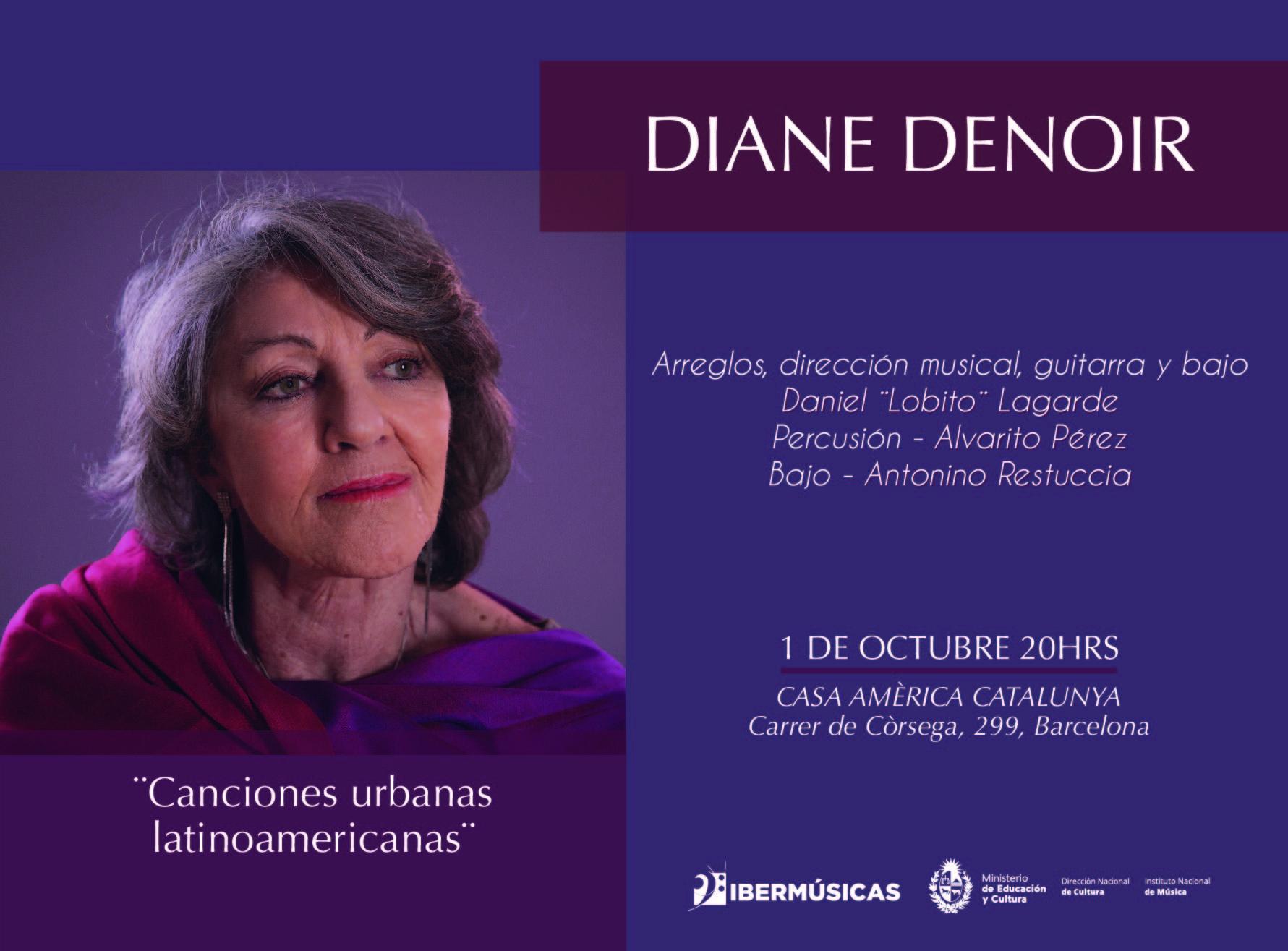 La cantante uruguaya Diane Denoir se presentará en la Casa Amèrica Catalunya, España
